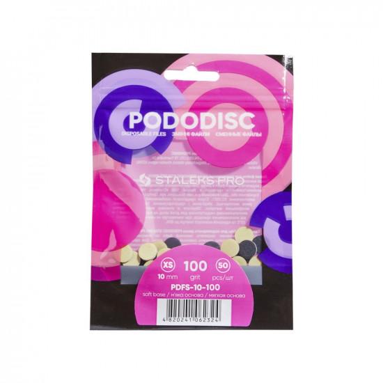 Rezerve pentru disc pedichiura STALEKS PRO XS 100 grit (50 buc), PDFS-10-100